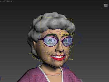 Full Facial Rigging : Granny Rigged Face