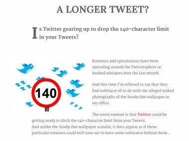 A Longer Tweet