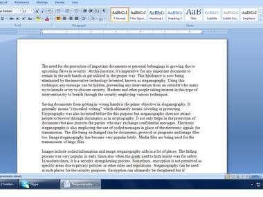 Steganography - Protecting Important Documents