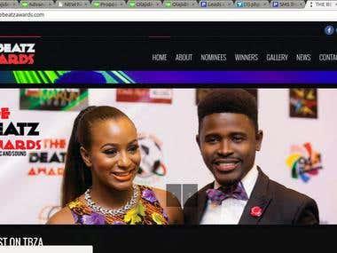 The Beatz Award Website