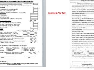 Scanned PDF File Converted into Editable word file