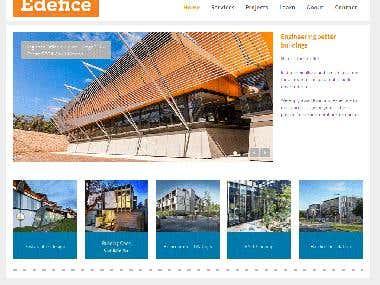 Engineering building design company WP website customization