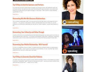 Personal wordpress informative website
