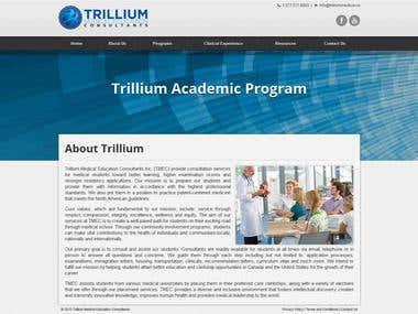 Trillium Medical Education Consultants HTML CSS Website