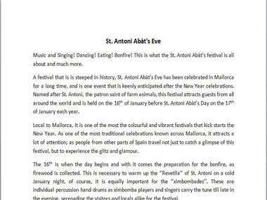 St. Antoni Abat's Eve