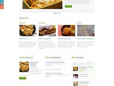 Cookingconpausan (Wordpress website+store)