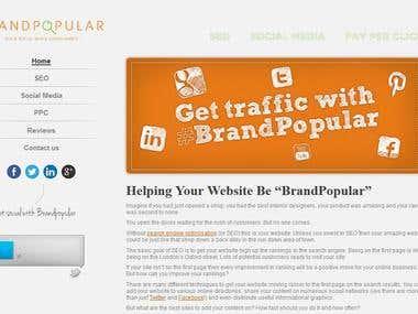 Brand Popular Website