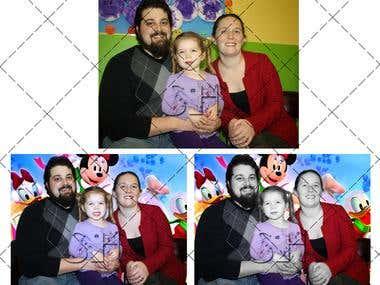 Family photo retouch