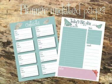Undated planner design