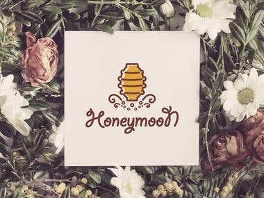 "Logo and branding for ""Ноneymoon"""