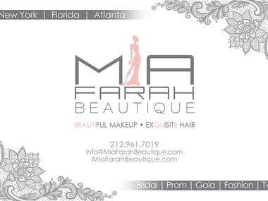 Postcard design for Hair and Makeup Company