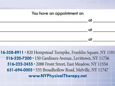 Marketing Materials for Physical Therapy Company