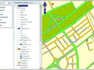 Map render sample