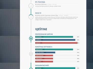 Design a CV web