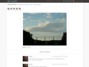Fully web2 based social image sharing site