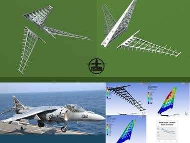 Harrier T4 Empenage Modal Simulation