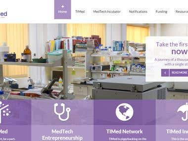 Website for Medical Technology Incubation