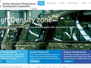 Website with CMS for Industrial Infra Development Agency