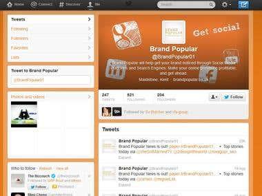 Brand Popular Twitter