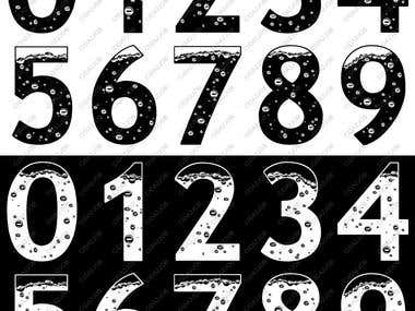 Design Numbers Ilustrated 0..9 - Boiling Point Effect