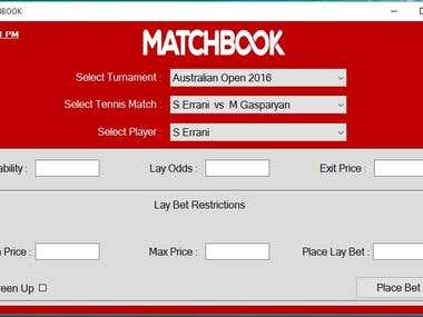 Matchbook Betting BOT