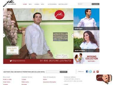 JK Guayaberas Ecommerce Store