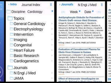 Journal filter for medicine research Netherland Ios/Android