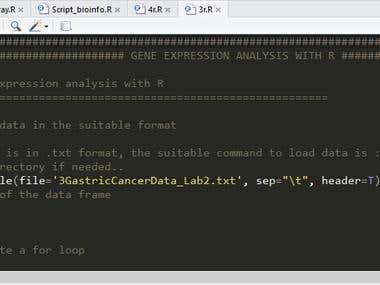 Bioinformatic scripting with R