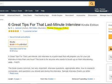 Edited Amazon Kindle Book