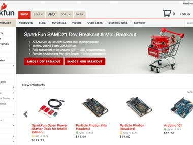 Spark Fun Electronics Ecommerce Store