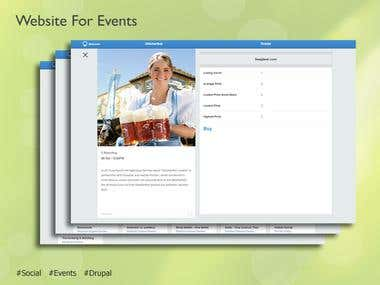 Website for Events based on Drupal