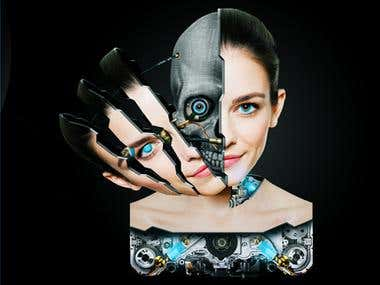 Bionic Woman - Photoshop Speed Art