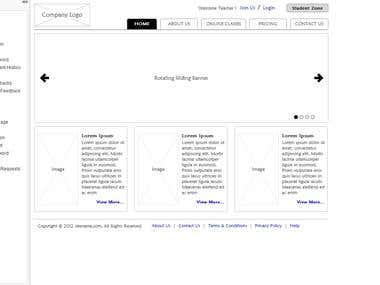Wireframe - Online Tutor Website