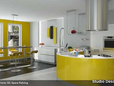 3D Interior Kitchen