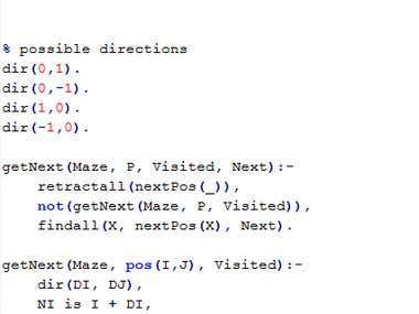 Prolog maze solver