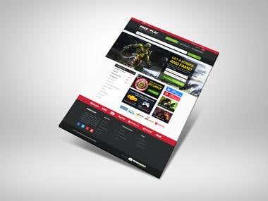 Free2Play   website design