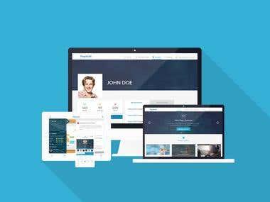 Pageaudit App design for Web , Tablet & Mobile Version