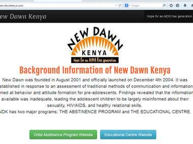 New Dawn Kenya Website www.newdawnkenya.com