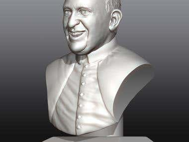 Pope Francis for 3D printing