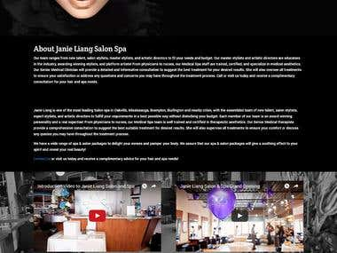 Saloon and spa website