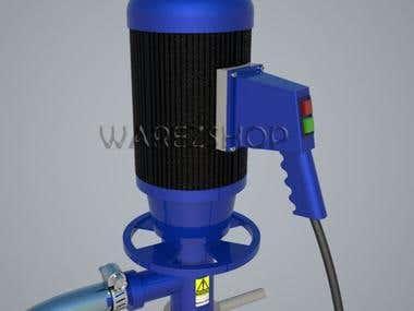 Oil barrel pump