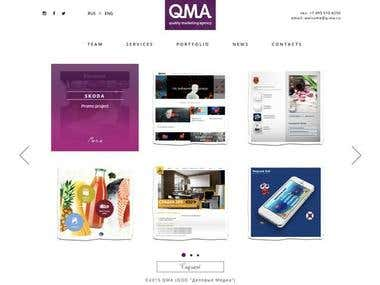 QMA - SEO and SMM Marketing Company Full Scale Website