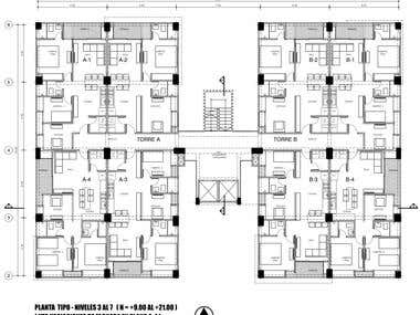 Drafts of Architectural Building 01 (AutoCAD)
