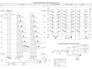 Drafts of Electrical Project (Building (AutoCAD)