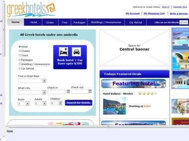 Axure - Greek Hotels Website