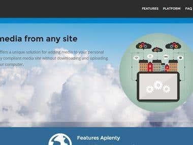 Media platform | Cloud Concept