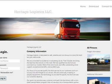 Logistic Management Website