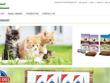 Animal Supermart - Food selling website