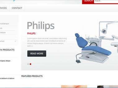 Develop Website for Medical Supplies