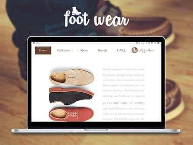 Foot-Ware  Website UI